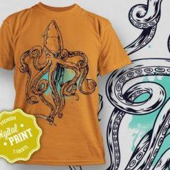 Printe5 Sealife Squid