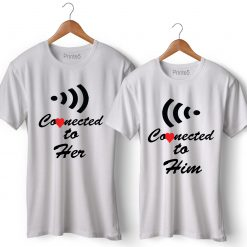 Wifi Printed Couple T-Shirt