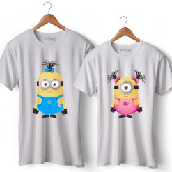 Minion Printed Couple T-Shirt