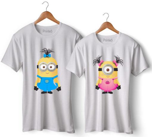 Minion Printed Couple T-Shirt