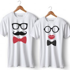 Mr & Mrs Printed Couple T-Shirt
