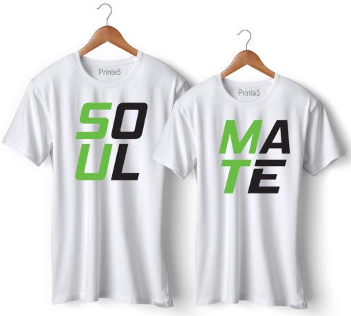 Soul Mate Printed Couple T-Shirt