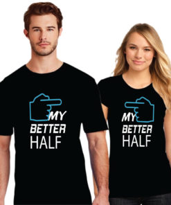 My Beter Half Printed Couple T-Shirt