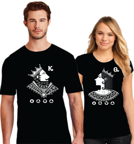 Begum Badshah Printed Couple Black T-Shirt