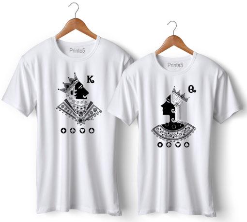 Begum Badshah Printed Couple White T-Shirt
