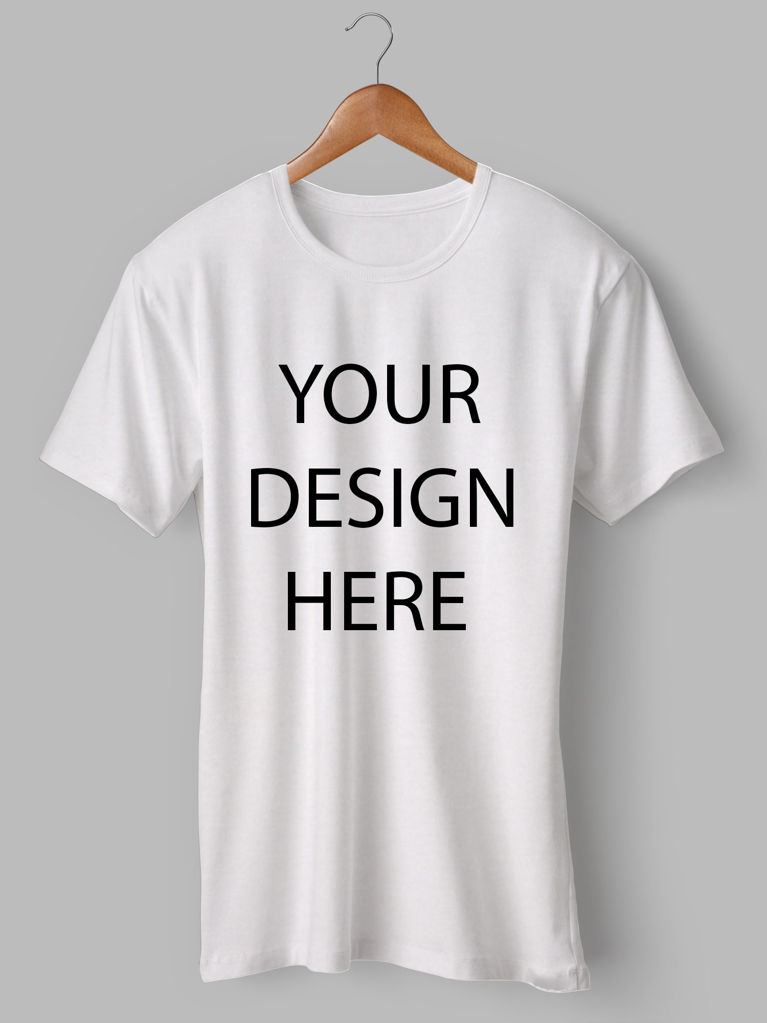 Customized Round Neck White T-Shirt | Printe5