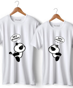 Bunny Panda Couple T-Shirt
