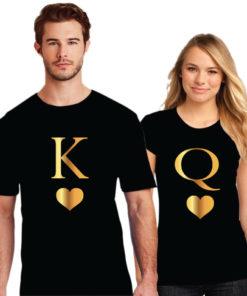 King Love Queen Couple T-Shirt | Printe5