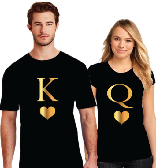 King Love Queen Couple T-Shirt | Printe5