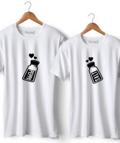 Pepper & Salt White Couple T-Shirt